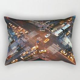Taxi Central Rectangular Pillow