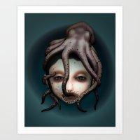 misfits Art Prints featuring Misfits - Andromeda by Raymond Sepulveda