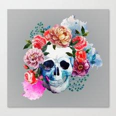 Flower Skull Canvas Print