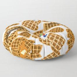 Waffle On Floor Pillow