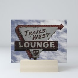 Trails West Neon Mini Art Print