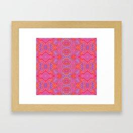 Mad pink marble 2 Framed Art Print