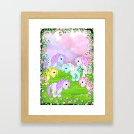 g1 my little pony collector ponies Framed Art Print