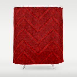 Tipi's (Red) Shower Curtain