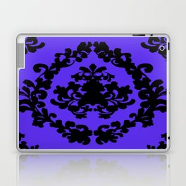 Victorian Damask Purple and Black Laptop & iPad Skin