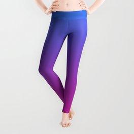 Vibrant Blue, Purple & Pink Gradient Color Leggings