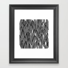 Black & White Leaves Framed Art Print