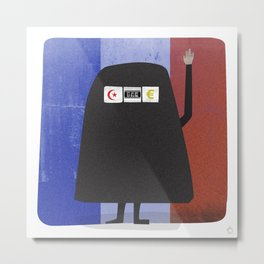 Burqa Ban - Luck be a Lady Tonight Metal Print