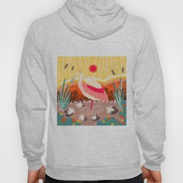 Roseate Spoonbill in the Sunset Hoody