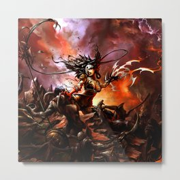 Orc woman Metal Print