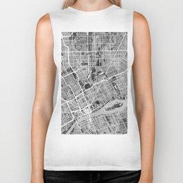 Detroit Michigan City Map Biker Tank