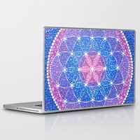 flower of life Laptop & iPad Skins featuring Starry Flower of Life by Elspeth McLean