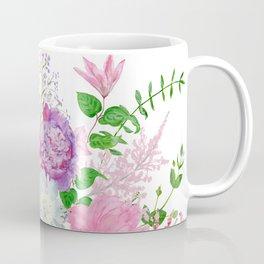 Pink bouquet of garden flowers Coffee Mug
