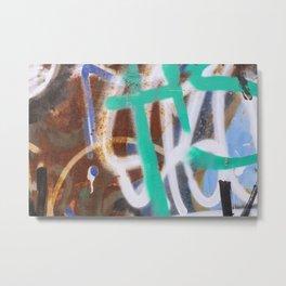 Graffiti and rust Metal Print