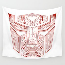 Autobot Tech Red Wall Tapestry