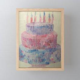 Birthday Cake Framed Mini Art Print