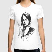 katniss T-shirts featuring Katniss Everdeen Digital Drawing by Fran Draws