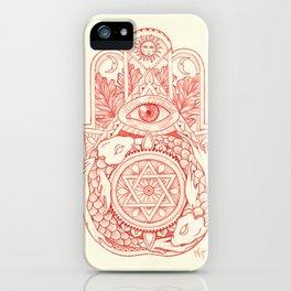 Indie Hamsa iPhone Case