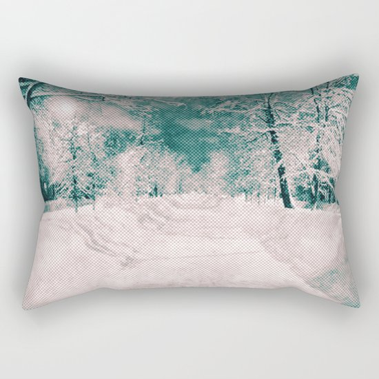 Winter wonderland. Halftone effect Rectangular Pillow