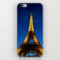 eiffel iPhone & iPod Skins featuring Eiffel by Heather Hartley