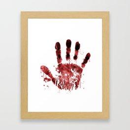 Zombie Handprint Framed Art Print