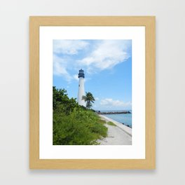 Miami Lighthouse Framed Art Print
