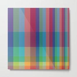 Fibonacci Grid in living color Metal Print