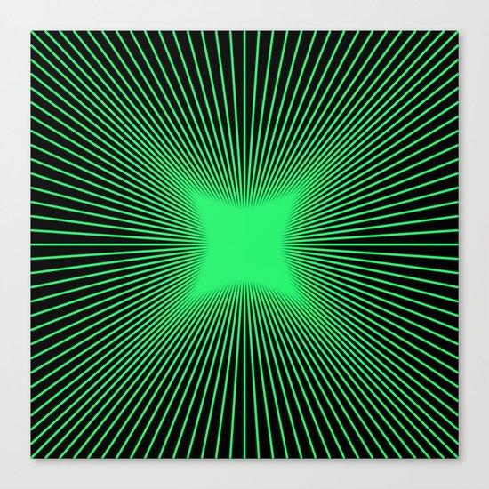 The Emerald Illusion Canvas Print
