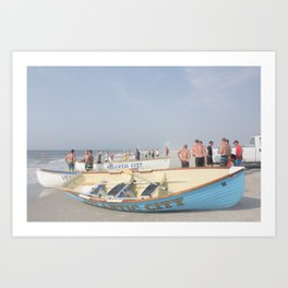 Atlantic City Lifeboats Art Print