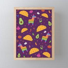 Taco Fiesta in Purple Framed Mini Art Print