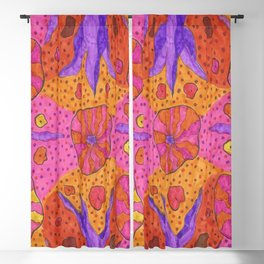 Bohemian Summer Vibes Abstract Blackout Curtain