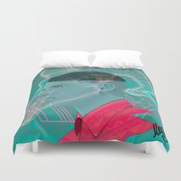 aries Duvet Covers featuring Aries by Musya