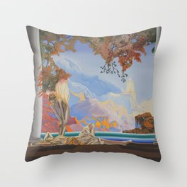 After Maxfield Parrish Throw Pillow