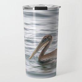 Pelican on Water Travel Mug