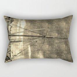 Thames Sailing Barges Vintage Rectangular Pillow