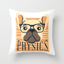 Physics American Pit Bull Terrier Puppy Dog Throw Pillow