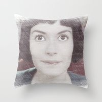 amelie Throw Pillows featuring Amelie by EclipseLio