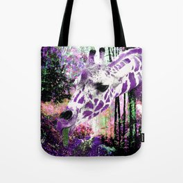 GIRAFFE FANTASY ENCOUNTER FOREST DREAM Tote Bag
