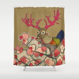 Chickedeer Blossoms Shower Curtain
