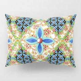 Elizabethan Folkloric Blossoms Pillow Sham