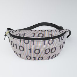 Binary code on a computer screen Fanny Pack