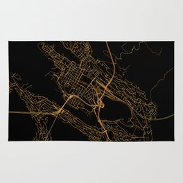 Bergen map, Norway Rug