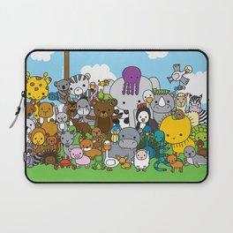 Zoe animals Laptop Sleeve