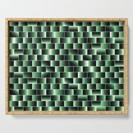 Green set of tiles - movie style Serving Tray