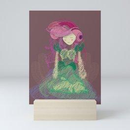 Mauve Periwinkle Pastel Mini Art Print