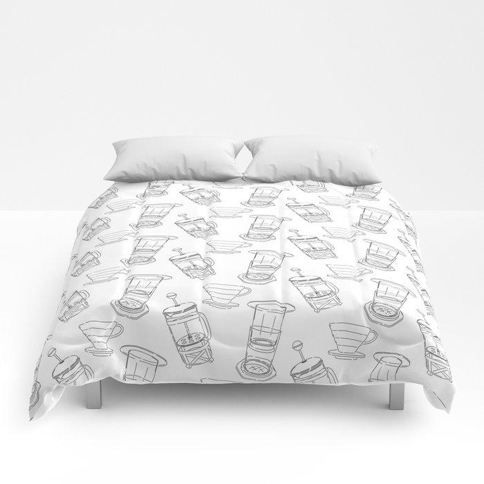 Coffee Brewing Pattern Comforters