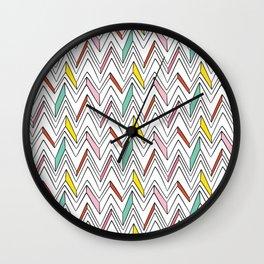 Memphis Style Wall Clock