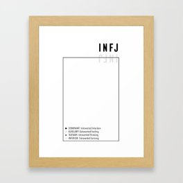 INFJ Personality Type MBTI Function Stack Framed Art Print
