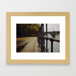 Autumn in the city Framed Art Print