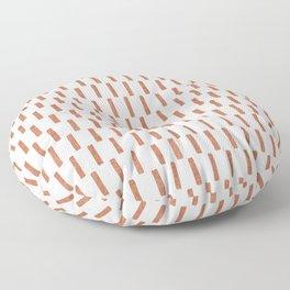 block print dash - terra cotta Floor Pillow